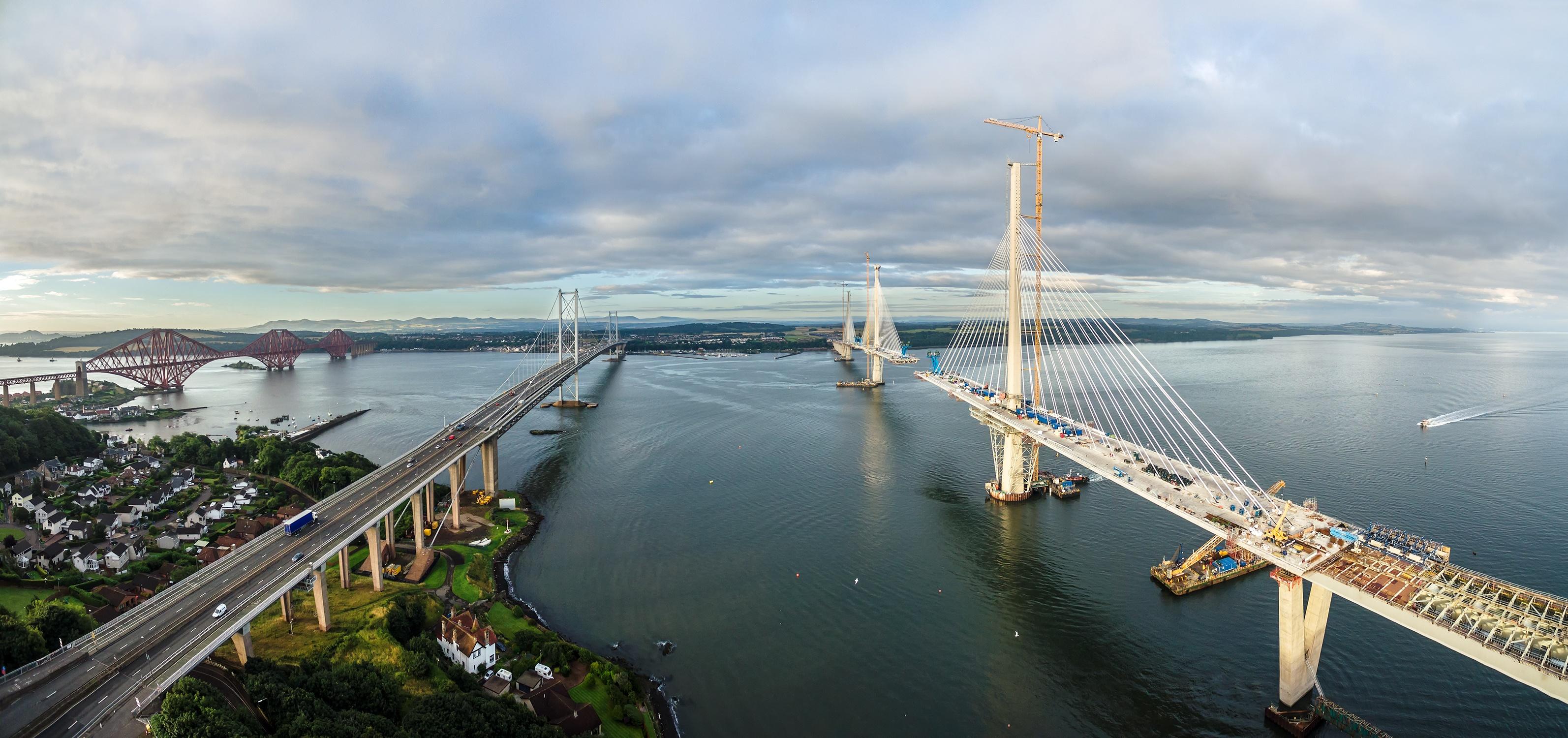 The Queensferry Crossing near Edinburgh in Scotland