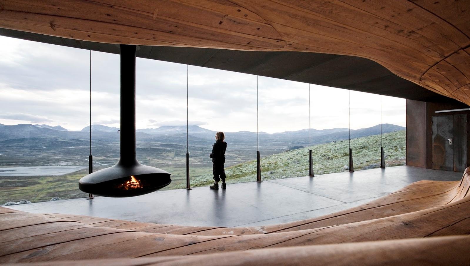 Rentier-Beobachtungs-Pavillon Tverrfjellhytta, Norwegen