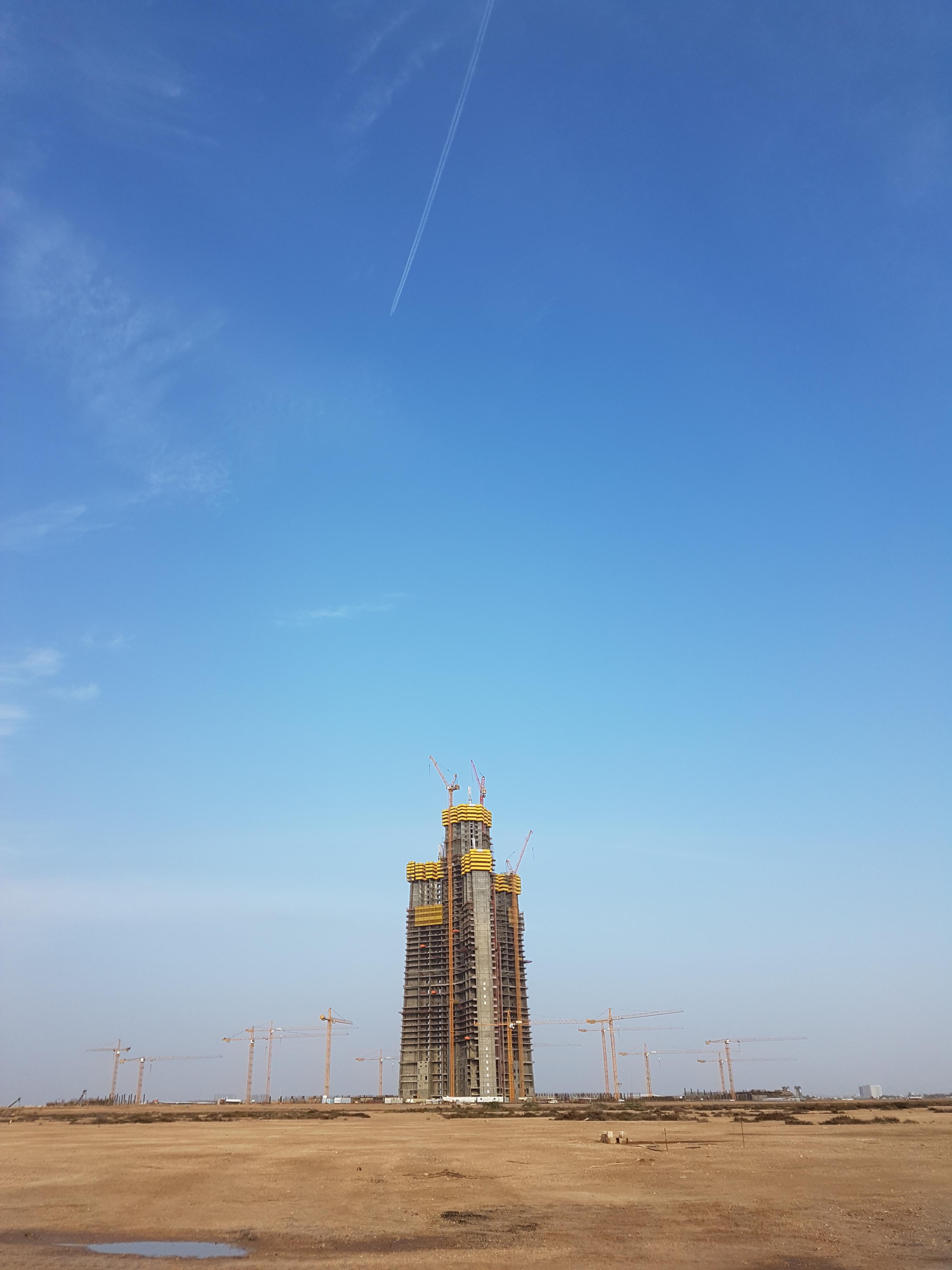 Jeddah Tower im Bau