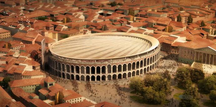 Visualisierung, Arena di Verona