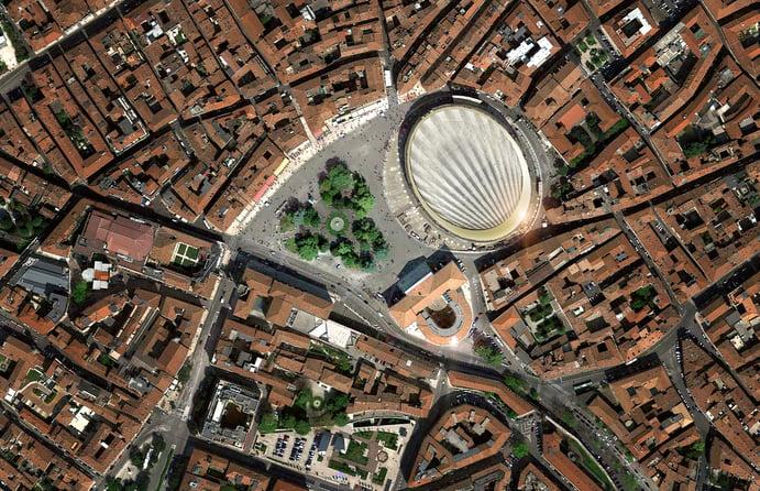 Die Arena di Verona von oben