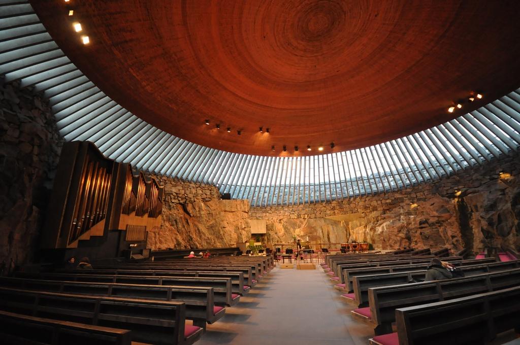 unterirdische Temppeliaukio Kirche, Helsinki