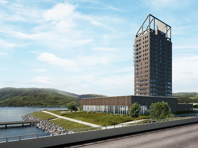 """Mjøstårnet"" (Mjøsa-Turm)"