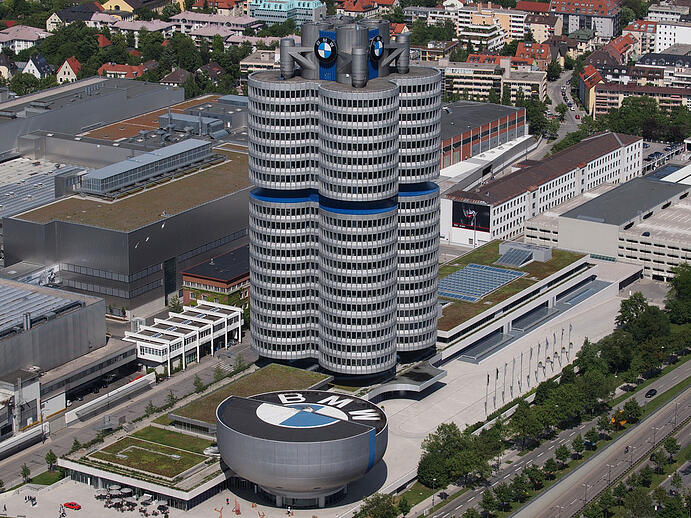 BMW-Four cylinder and the BMW-Museum in Munich