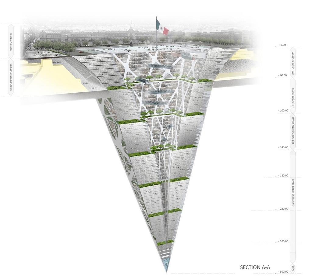Rendering Earthscraper Mexico City