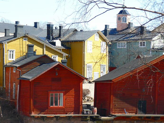 Wooden houses in Porvoo