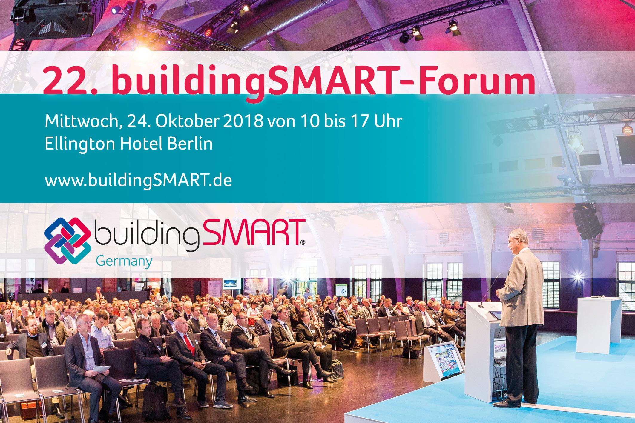 Digitalen Wandel mitgestalten – 22. buildingSMART-Forum in Berlin am 23. und 24. Oktober 2018