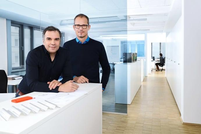 Daniel Mondino und Lars Kölln, Gründer und Inhaber des Architekturbüros CORE architecture