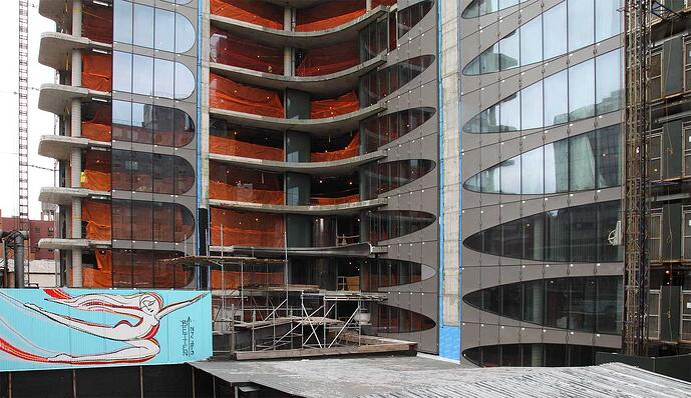 Apartment-Gebäude, 520 West 28th Street, New York City, entworfen von Zaha Hadid