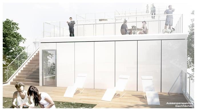 Dachperspektive, VDI Wettbewerb Modulares Bauen