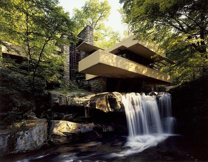 Courtesy of the Western Pennsylvania Conservancy; Fallingwater House