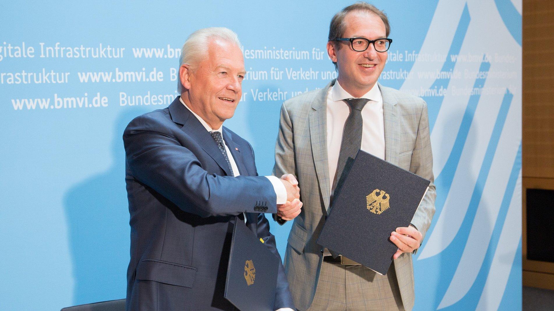 Rüdiger Grube und Alexander Dobrindt