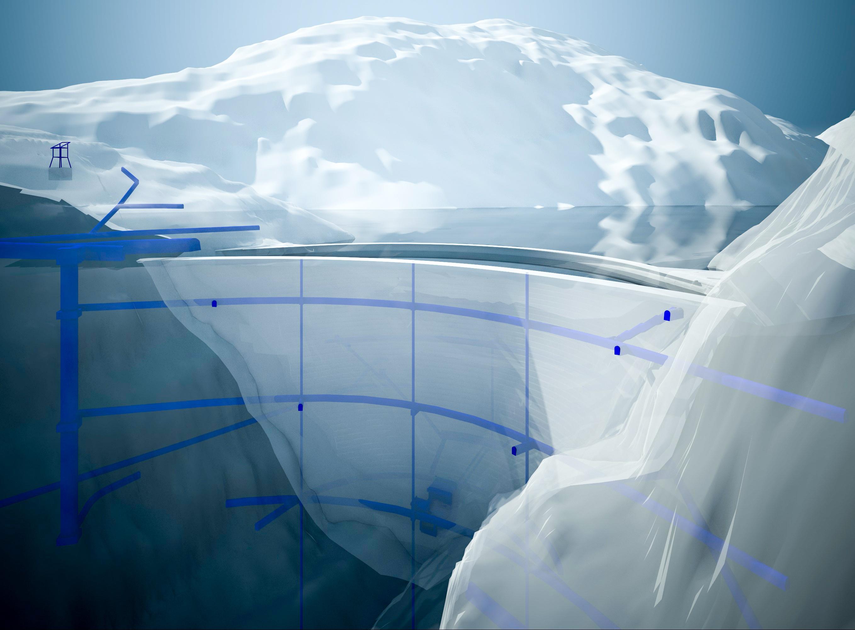 Digitales 3D-Modell Staudamm Grimselsee