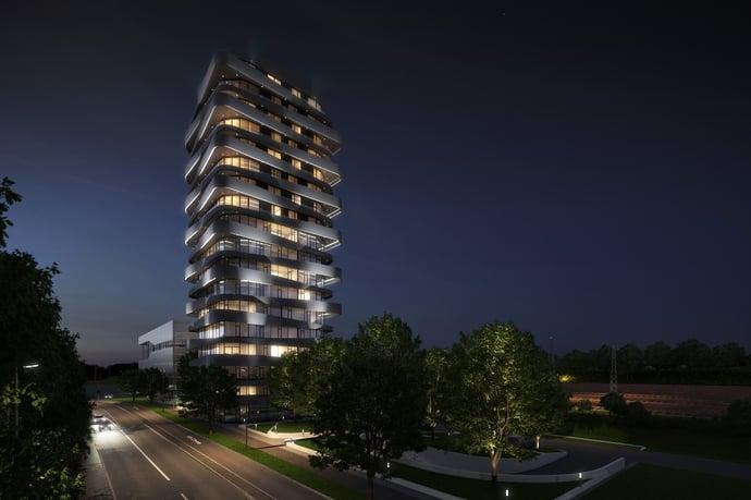 SKY-Tower bei Nacht