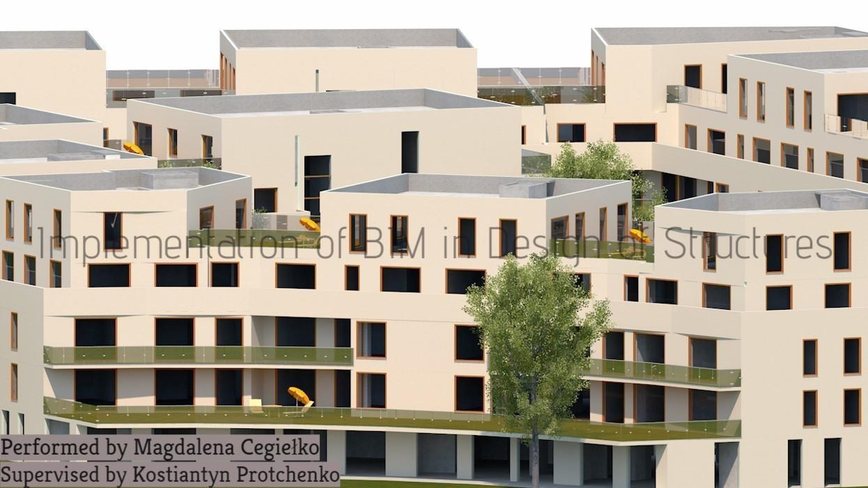 The winner project 2016/2017: Housing estate; Author: Magdalena; Cegiełko; Supervised by Kostiantyn Protchenko