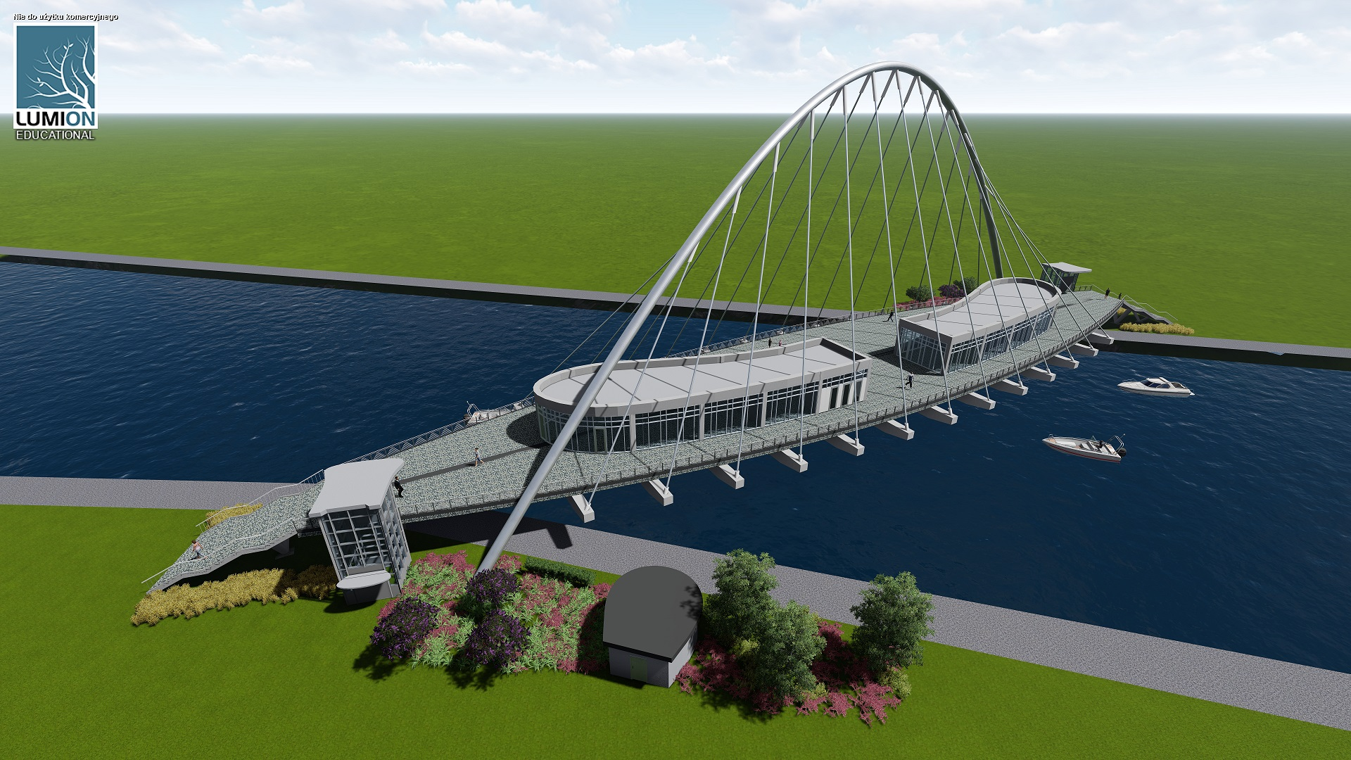 The winner project 2017/2018: The project of pedestrian bridge; Author: Anna Kaczmarczyk; Supervised by Kostiantyn Protchenko