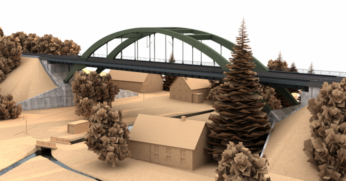 Digital twin created for groundbreaking bridge with Allplan Bridge